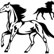 Royalty-Free Stock Imagen vectorial: Running horse