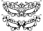 Masquerade masks — Stock Vector