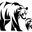 Bear emblem — Stockvektor  #33518577