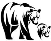 Bär-emblem — Stockvektor