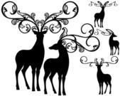 Fantasy deers — Stock Vector