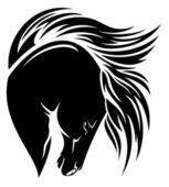Black mustang — Stock Vector