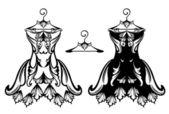 Diseño del vestido — Vector de stock