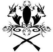 Hunt emblem — Stock Vector