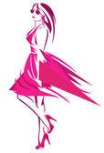 Kobieta moda — Wektor stockowy