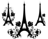 Paris in Flowers — Stock Vector