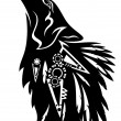 Tribal wolf — Stock Vector #50800827