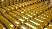 3d Gold Bars — Stock Photo