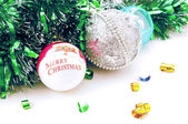 Christmas decorations isolated — Stock Photo