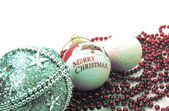 Vintage Christmas decorations isolated — Stockfoto