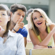 Students in a lecture hall — Stock Photo #18342123