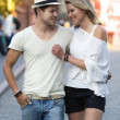 Couple in Wroclaw — Stock Photo