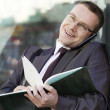 Businessman outdoors — Stock Photo