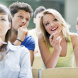 Students in a lecture hall — Stock Photo #18942487