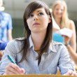 Bullied female student - Stock Photo