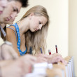 Students during exam — Stock Photo