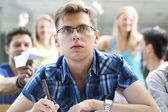 Geek student — Stock Photo