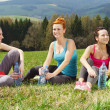 Girls resting after exercising — Stock Photo #27047961