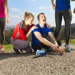 Injury during jogging — Stock Photo