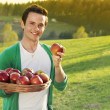 Stock Photo: Man with apples