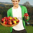 Mwith apples — Stock Photo #27048925