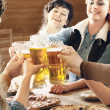 Friends drinking beer — Stock Photo #27049575