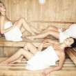 Young in sauna — Stock Photo #27049799