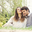 Lovely couple in nature — Stock Photo #27050039