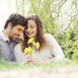 Lovely couple in nature — Stock Photo #27050083