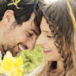 Lovely couple smiling — Stock Photo #27050175