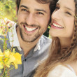 Lovely couple smiling — Stock Photo #27050225