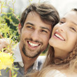 Lovely couple smiling — Stock Photo #27050245