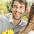 Lovely couple smiling — Stock Photo