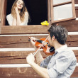 Lovely couple flirting — Stock Photo #27050381