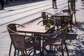 Cafe on Jaffa street in Jerusalem — Stock Photo
