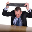 Stock Photo: Keyboard frustration