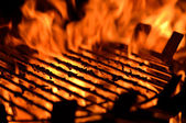 Flame grill — Stock Photo