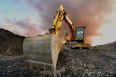 Quarry excavator — Stock Photo