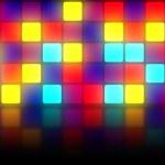 kleurrijke retro dancefloor achtergrond — Stockfoto