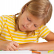 Young girl drawing — Stock Photo