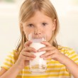 Girl drinking milk — Stock Photo #18719521