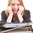 Business woman in despair — Stock Photo