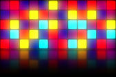 Colorful retro dancefloor backdrop — Stock Photo