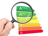European energy efficiency classification — Stock Photo