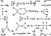 シームレスな化学式の背景 — ストック写真