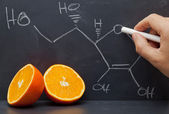 Vitamin C structure — Stock Photo