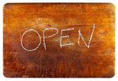 Otevřít znaménko — Stock fotografie