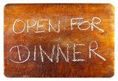 öppet för middag — Stockfoto