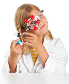 Scientist girl — Stock Photo