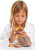 Chica científico — Foto de Stock
